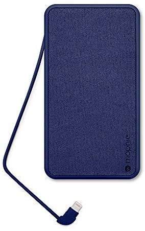 mophie powerstation [APPLE MFI CERTIFIED] 10,000mAh Portable Charger with Built-In Lightning Cable, External Battery for iPhone SE, 11, 11 Pro, 11 Pro Max, XR, Xs Max, XS, X, 8, 7, 6, 5, iPad, airpods