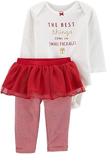 Carter's 2-Piece Holiday Best Things Come in Small Packages Cotton Bodysuit & Tutu Pant Set