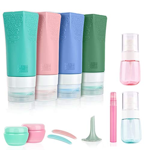 Travel Container for Toiletries Tsa Approved Travel Bottles Travel Accessories Toiletry Bottles Travel Bottles for Shampoo and Conditioner Pack of 12