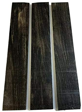 Pack of 3 Exotic Gaboon Ebony Thin Lumber Board, Suitable Thin Stock Lumber for Wood Crafting and Wood Working Projects (3/4″ x 2″ x 12″)