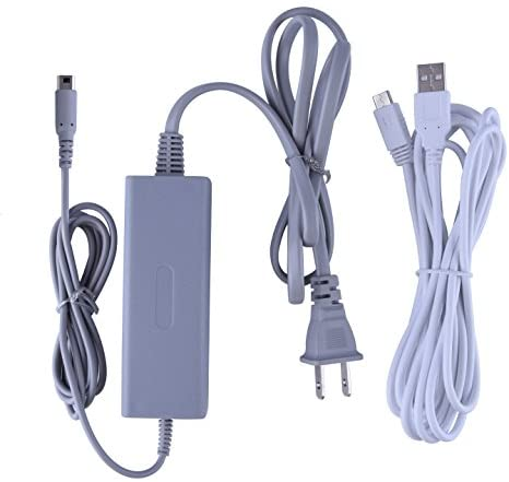 Austor Charger Kit for Wii U Gamepad – Supply AC Adapter Charging Cable with Charger Cord for Nintendo Wii U Gamepad