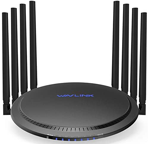 WAVLINK T8 Quantum AC3000 MU-MIMO Wireless Router, Tri-Band Gigabit Router Smart Wi-Fi Router with Touchlink,Ethernet Smart WiFi Box High Speed Long Range for Wireless Internet Large Home Gaming