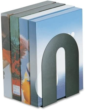 Officemate Steel Construction Heavy-Duty Bookends-Heavy Duty Bookends, 8″x8″x10″, Black