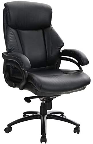 ALPHA HOME High Back Executive Chair Ergonomic Office Chair Managerial Computer Desk Chair with Lumbar Support Big Tall Adjustable Height Rolling Swivel Chair with Caster Black Weight Capacity 400 lbs