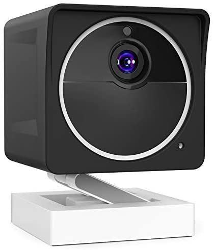 Delidigi Cover Skin for Wyze Cam Outdoor, Weather-Resistant Silicone Protective Case Accessories for WYZE Cam Outdoor Wire-Free Smart Home Camera (Not fit WYZE cam v1 and v2)(Black)