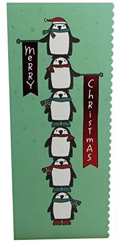 """American Greetings Money & Gift Card Holder with Envelope X 6-Pack -""""Merry Christmas Penguins"""""""