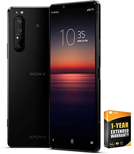 Sony XQ-AT51 Xperia 1 II – 6.5 inch 4K HDR OLED Triple Camera Array Smartphone with ZEISS Optics Bundle with 1 Year Extended Warranty