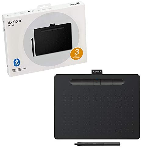 Wacom CTL6100WLK0 Intuos Wireless Graphics Drawing Tablet with Software Included, 10.4″ X 7.8″, Black