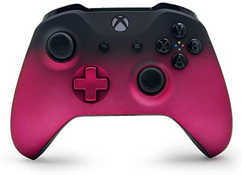 Deep Pink Shadow Custom Wireless Controller for Xbox One Console – Textured Grip – 3.5mm Headset Jack – Deep Pink D-pad – Grey on Black ABXY