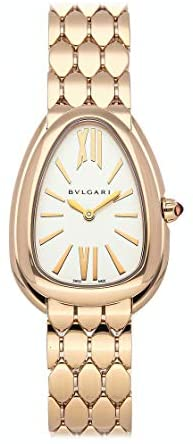 BVLGARI Serpenti Quartz (Battery) Silver Dial Watch 103145 (Pre-Owned)