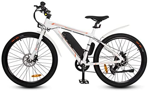 ECOTRIC Bicycle 26″ Ebike Electric City Bike 350W 36V/9AH Brushless Rear Motor Removable Lithium Battery Assist Disc Brake 7 Speed System