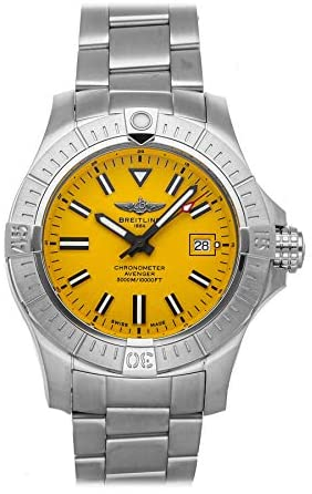 Breitling Avenger Mechanical (Automatic) Yellow Dial Mens Watch A17319101I1A1