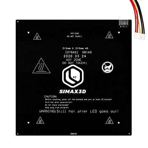 Aluminum Heated Bed 24V Hot Bed 310x310mm Hot Bed for Creality CR10S PRO 3D Printer Accessories with 39.3in Cable