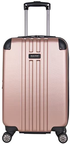 Kenneth Cole Reaction Reverb 20″ Hardside Expandable 8-Wheel Spinner Carry-on Luggage, Rose Gold