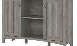 Bush Furniture Salinas Accent Storage Cabinet with Doors in Driftwood Gray