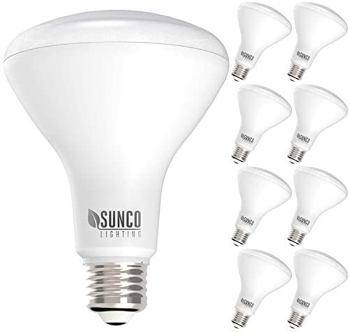 Sunco Lighting 8 Pack BR30 LED Bulb 11W=65W, 4000K Cool White, 850 LM, E26 Base, Dimmable, Indoor Flood Light for Cans – UL & Energy Star