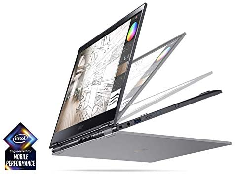 Acer Spin 5 13.3″ FHD Touch Screen 2-in-1 Laptop with Intel Quad Core i7-8565U Processor up to 4.60 GHz, 16GB Memory, 512GB SSD, Backlit Keyboard, and Rechargeable Active Stylus Included