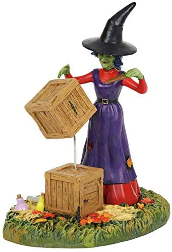 Department56 Snow Village Accessories Halloween Moving with Magic Figurine, 3.9″, Multicolor