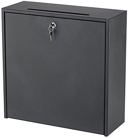 Safco Products 4259BL Inner Office Mailbox, Large, Black