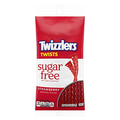Twizzlers Twists Sugar Free Strawberry Licorice Candy, 5 Ounce