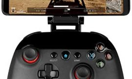 Linkstyle Wireless Game Controller Bluetooth Mobile Gamepad Joystick Game Handle with Retractable Phone Holder Clip Compatible for Android/iOS Smartphone iPad