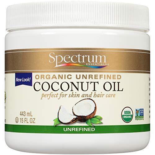 Spectrum Essentials Organic Coconut Oil, Unrefined – 15 Oz