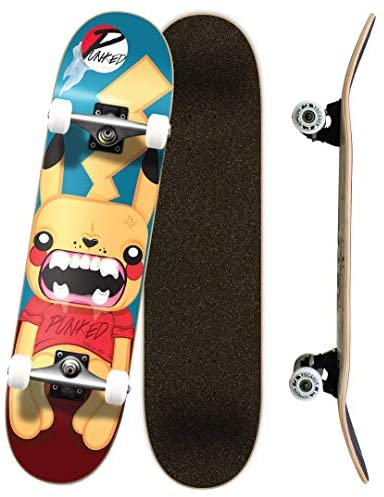 Yocaher Punked Complete Skateboards 7.75″ or Mini Cruiser or Micro Cruiser Shapes – Pika, Candy, and Chimp Series