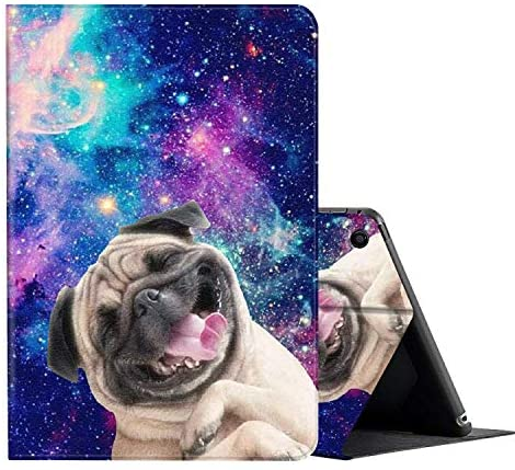 AMOOK Case for All-New Amazon Fire HD 8 Tablet (2018/2017/2016 Release, 8th/7th/6th Generation) with Multi-Angle Viewing Auto Wake/Sleep Folio Stand Cover, Glaxy Sharpei Dog