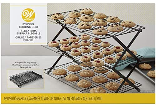 Wilton 3-Tier Collapsible Cooling Rack, Black (2105-8402)