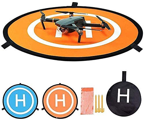 Fstop Labs Drone and Quadcopter Landing Pad Accessories 21 Inch, Waterproof Nylon Compatible with DJI Tello Mavic Phantom 3 4 Spark Mavic 2 Pro Zoom Air