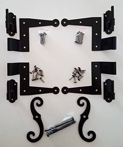 Stainless Steel Colonial Shutter Hardware (1/2″ Offset) Complete Window Kit