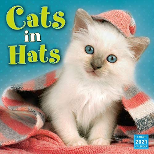 Sellers Publishing, 2021 Cats in Hats Wall Calendar