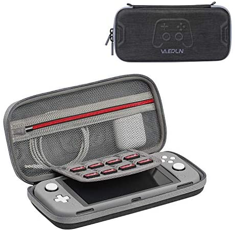 Vanerdun Nintendo Switch Lite Carrying Case with a Protective Cover – High Quality Travel Case for Nintendo Switch Lite, Compatible with Console and System Accessories, with 8 Game Card Cartridges