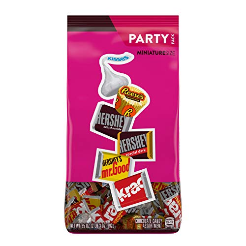 Hershey's Chocolate Candy Assortment (Kisses, Reese's, and Hershey's Miniatures), Bulk Bag, 35 Ounce