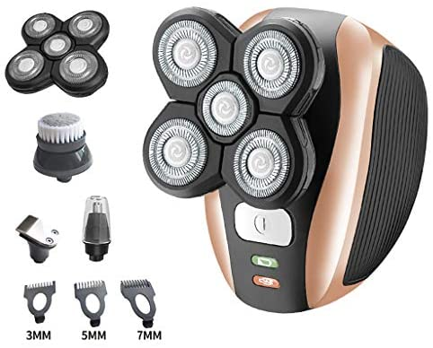 Head Shavers for Bald Men, Electric Razor Head Shaver for Bald 5 in 1 Grooming kit Hair Clippers Nose Hair Trimmer Beard Cordless Waterproof USB Rechargeable