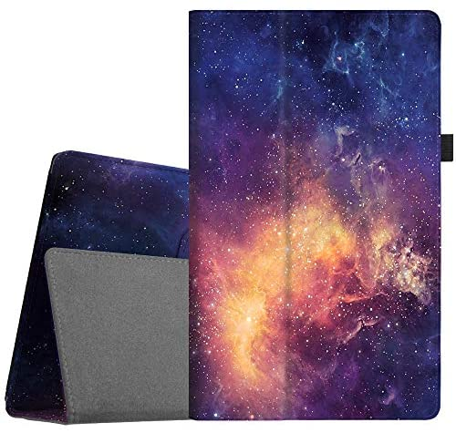 Fintie Folio Case for All-New Amazon Fire HD 10 Tablet (Compatible with 7th and 9th Generations, 2017 and 2019 Releases) – Premium PU Leather Slim Fit Stand Cover with Auto Wake/Sleep, Galaxy