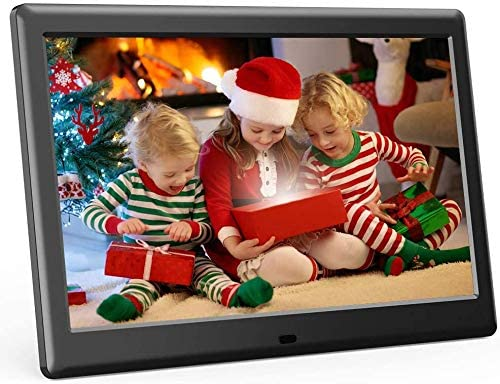 DBPOWER 10 Inch Digital Picture Frame, Advanced Electronic Photo & Video Frame with 1280×800 IPS HD Display, Supports 1080P, Auto-Rotate, Remote Control, Slideshow, Time, Calendar View & USB/SD Slot