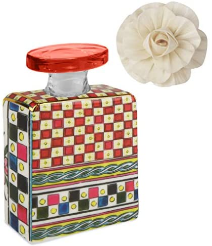 Baci Milano Maroc & Roll – Sicily Small Battle for Home Fragrance in Porcelain with Flower of GELSO 100ml – SBTMINI.B&R01 Made in Italy