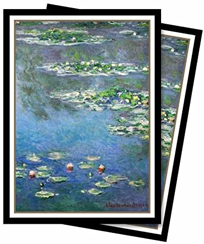 Ultra Pro Fine Art Series Water Lilies Standard (Magic) Deck Protector Sleeves (65 Count Pack)