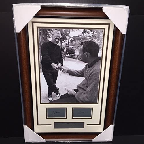 THE LOST BET JACK NICKLAUS ARNOLD PALMER LASER ENGRAVED SIGNATURE 11X14 PHOTO
