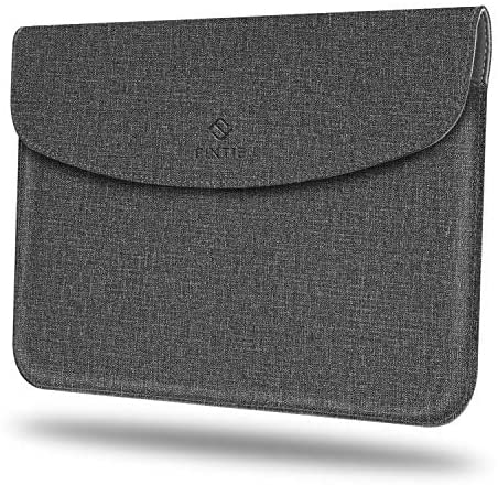 Fintie Sleeve Case for New Microsoft Surface Go 2 2020 / Surface Go 2018 – Slim Fit Premium Vegan Leather Protective Cover with Stylus Loop, Compatible with Type Cover Keyboard, Gray