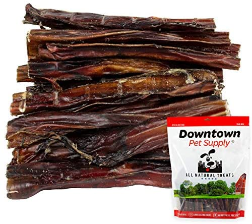 Downtown Pet Supply 6 and 12 inch American USA Bully Sticks for Dogs (Bulk Bags by Weight) Made in USA – Odorless All Natural Dog Dental Chew Treats, High in Protein, Great Alternative to Rawhides