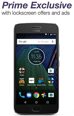 Moto G Plus (5th Generation) – Lunar Gray – 32 GB – Unlocked – Prime Exclusive – with Lockscreen Offers & Ads