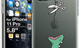 XIX iPhone 11 Pro Max Case Funny Design Cute Dinosaur Slim Fit Shockproof Bumper Cell Phone Accessories Thin Soft Transparent TPU Protective Apple iPhone 11 Pro Cases (01,iPhone 11 Pro)
