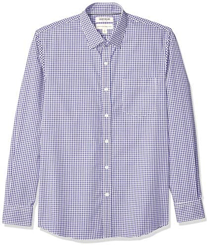 Amazon Brand – Goodthreads Men's Standard-Fit Long-Sleeve Wrinkle Resistant Comfort Stretch Poplin with Easy-Care