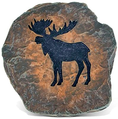CoTa Global Elegant Intricate Moose Figure The Wild Coaster Decor Collection Wildlife Safari Animal Theme Resin Handcrafted Hand-painted Art Faux Wood Figurine Home Accent Accessories 3.75 Inch