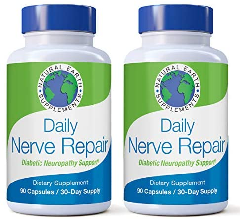 Daily Nerve Repair Neuropathy Pain Relief for Feet & Hands-Sciatic Nerve Pain Relief All-Natural Dietary Supplement with Alpha Lipoic Acid-Nerve Renew Neuropathy Support Formula 60 Day Supply. (2)