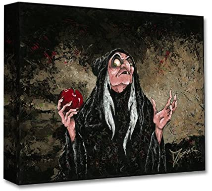 Disney Fine Art The Magic Wishing Apple 12″ x 16″ Treasures on Canvas Snow White The Evil Queen Gallery Wrapped Canvas Wall Art by Trevor Mezak