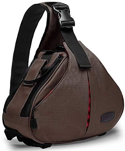 CADeN Camera Bag Sling Backpack Camera Case Waterproof with Rain Cover Tripod Holder, Compatible for DSLR/SLR Mirrorless Cameras (Canon Nikon Sony Pentax) and Accessories Coffee