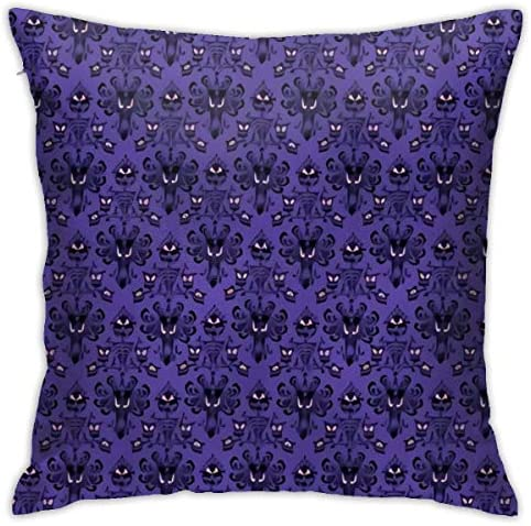 Antvinoler Purple Haunted Mansion Pillows Case Soft Throw Pillow Double-Sided Digital Printing Couch Pillowcase Square 45cm45cm